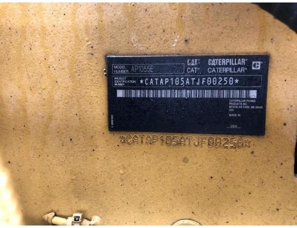 2012 CATERPILLAR AP1055E ASPHALT PAVER